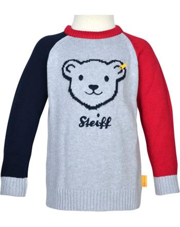 Steiff Pullover BEAR TO SCHOOL soft grey melange 2021128-9007