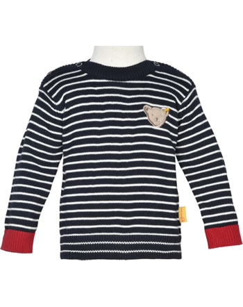 Steiff Strick-Pullover FISH AND SHIP Baby Boys steiff navy 2112320-3032