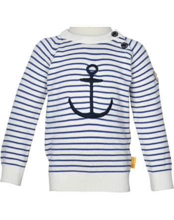 Steiff Strick-Pullover FISH AND SHIP Mini Boys bright white 2112122-1000