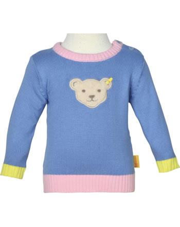 Steiff Strick-Pullover HELLO SUMMER Baby Girls brunnera blue 2113442-6043