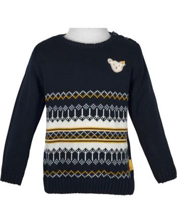 Steiff Strick-Pullover INDI BEAR Baby Boys steiff navy 2022302-3032