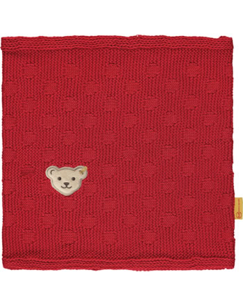 Steiff Strick-Schal / Loop BEAR TO SCHOOL tango red 2021231-4008