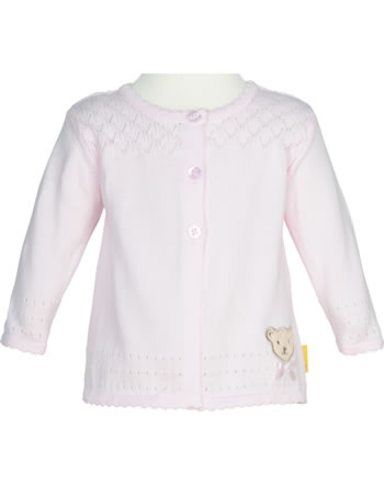 Steiff Strickjacke BEAR AND CHERRY barely pink 2013230-2560