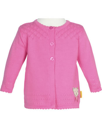 Steiff Strickjacke BEAR AND CHERRY pink carnation 2013230-3019