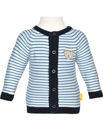 Steiff Strickjacke BEAR BLUES Streifen faience 2011208-6042