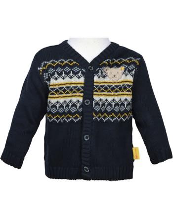 Steiff Strickjacke INDI BEAR Baby Boys steiff navy 2022303-3032
