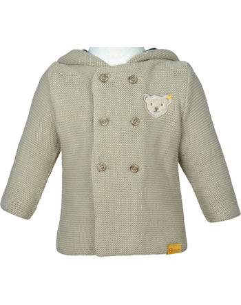 Steiff Cardigan with hood FOREST FRIENDS Baby Boys oxford tan 2023303-8010