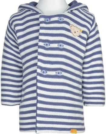 Steiff Strickjacke m. Ohren-Kapuze LETS PLAY Baby Boys bijou blue 2121301-6066