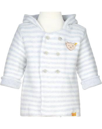 Steiff Strickjacke m. Ohren-Kapuze LETS PLAY Baby Boys nimbus cloud 2121301-9017