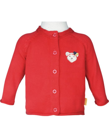 Steiff Strickjacke MARINE AIR Baby Girls true red 2112433-4015