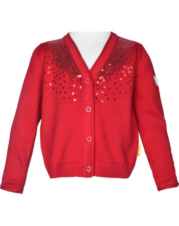 Steiff Strickjacke MARINE AIR Mini Girls true red 2112221-4015