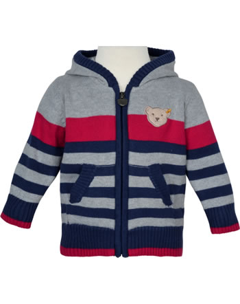Steiff Strickjacke mit Kapuze COSY BLUE patriot blue 1921301-6033