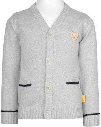 Steiff Strickjacke SPECIAL DAY Mini Boys soft grey melange 2124101-9007