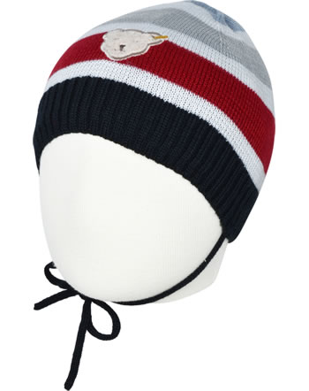 Steiff Strickmütze m.Bindeband BEAR TO SCHOOL steiff navy 2021337-3032