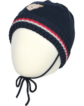 Steiff Knitted Hat FLYING AWAY Baby Girls teiff navy 2122421-3032