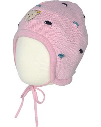 Steiff Strickmütze m.Bindeband SWEET HEART Baby Girls pink nectar 2121433-3035
