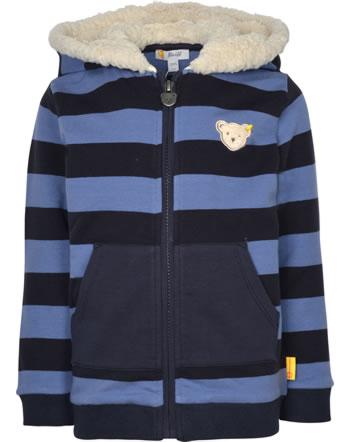 Steiff Sweajacke m. Kapuze LETS PLAY Mini Boys bijou blue 2121119-6066