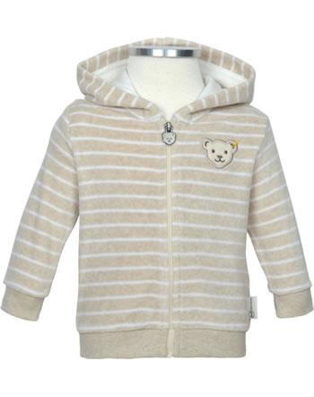 Steiff Sweat jacket BEAR HUGS velour sandshell 2022625-1005 GOTS