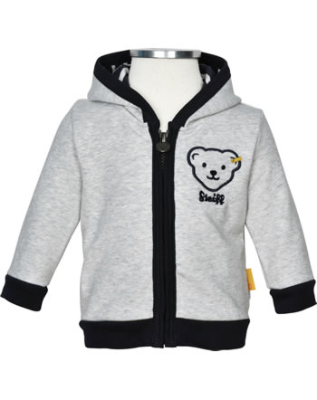 Steiff Sweat-Jacke INDI BEAR Baby Boys soft grey melange 2022333-9007