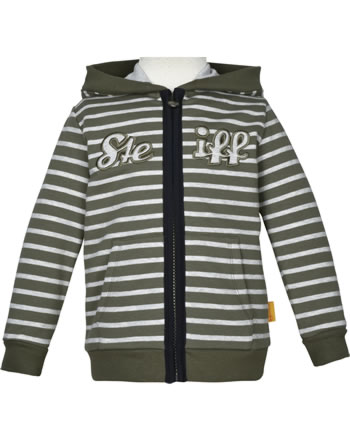 Steiff Sweat-Jacke INDI BEAR Mini Boys dusty olive 2022112-5020