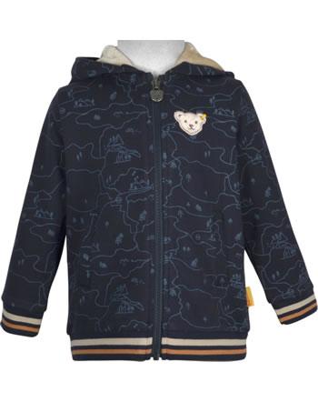 Steiff Hooded Sweat jacket FOREST FRIENDS Mini Boys steiff navy 2023109-3032