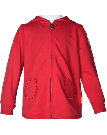 Steiff Sweat-Jacke mit Kapuze MARINE AIR Mini Girls true red 2112222-4015