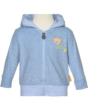 Steiff Sweat-Jacke Ohren-Kapuze HELLO SUMMER Boys kentucky blue 2113332-6020