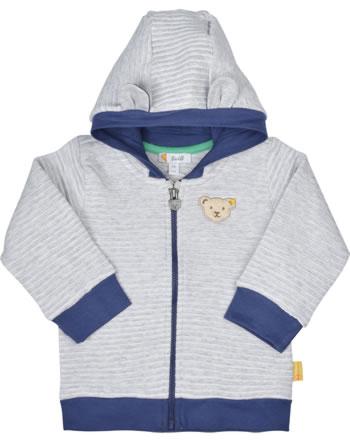 Steiff Sweat-Jacke Ohren-Kapuze HIGH FIVE Baby soft grey melange 2111304-9007