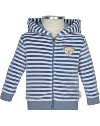 Steiff Sweat jacket RAINDROPS velour stonewash 2022516-6059 GOTS