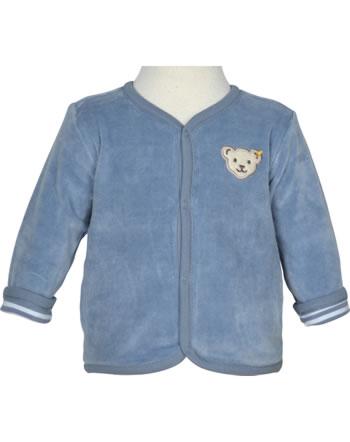Steiff Reversible sweat jacket RAINDROPS stonewash 2022514-6059 GOTS