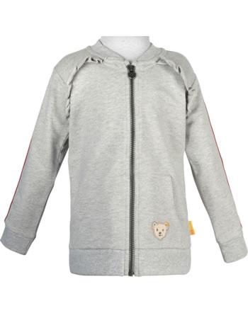 Steiff Sweatjacke BEAR TO SCHOOL soft grey melange 2021208-9007
