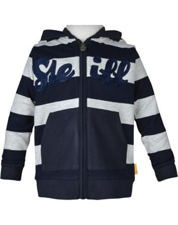 Steiff Sweatjacket hooded BEAR TO SCHOOL soft grey melange 2021119-9007
