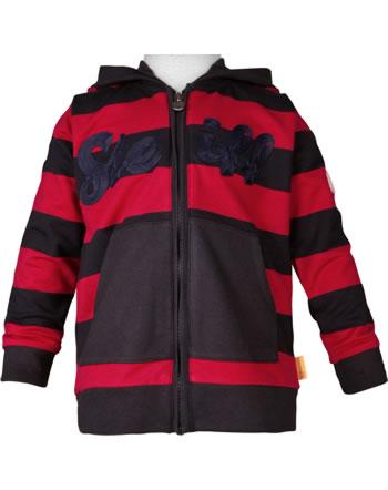 Steiff Sweatjacket hooded BEAR TO SCHOOL tango red 2021119-4008