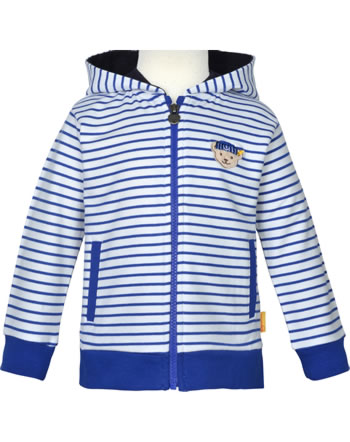 Steiff Sweatjacke m. Kapuze FISH AND SHIP Mini Boys bright white 2112121-1000