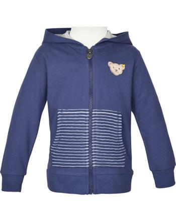 Steiff Sweat jacket with hood HIGH FIVE Mini Boys deep cobalt 2111102-6062