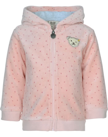 Steiff Sweatjacke m. Kapuze ORGANIC DOTS Baby Girl silver pink 2122516-3015