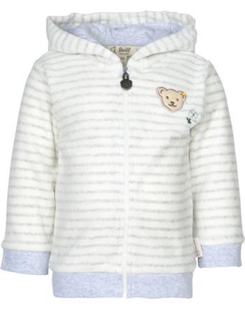 Steiff Sweatjacke m. Kapuze ORGANIC LUCKY CHARM Baby nimbus cloud 2122625-9017