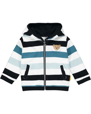 Steiff Sweatjacke m.Öhrchen BEAR BLUES Streifen black iris 2011204-3032