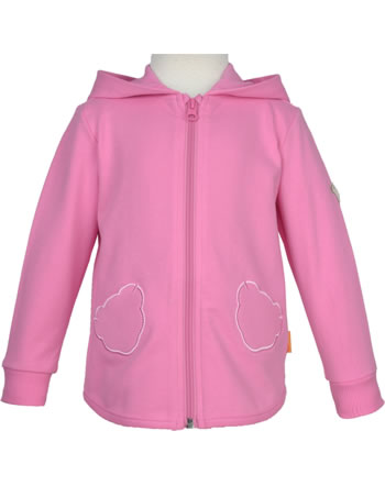 Steiff Sweat jacket with hood SWEET CHERRY pink carnation 2013432-3019
