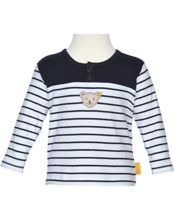 Steiff Sweatshirt BEAR BLUES Streifen black iris 2011221-3032