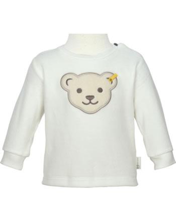 Steiff Sweatshirt BEAR HUGS Velour cloud dancer 2022606-1001 GOTS