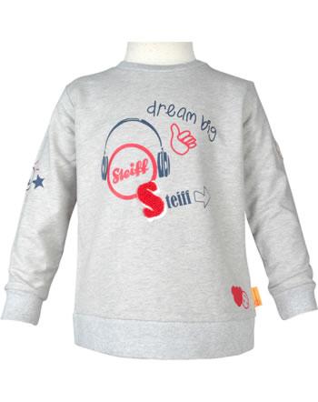Steiff Sweatshirt BEAR TO SCHOOL soft grey melange 2021105-9007