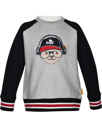 Steiff Sweatshirt BEAR TO SCHOOL soft grey melange 2021107-9007