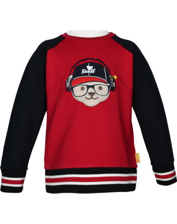 Steiff Sweatshirt BEAR TO SCHOOL tango red 2021107-4008
