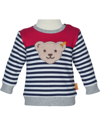 Steiff Sweatshirt COSY BLUE bright white 1921335-1000