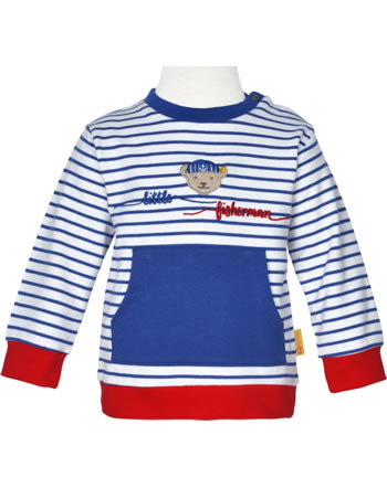Steiff Sweatshirt FISH AND SHIP Baby Boys bright white 2112331-1000