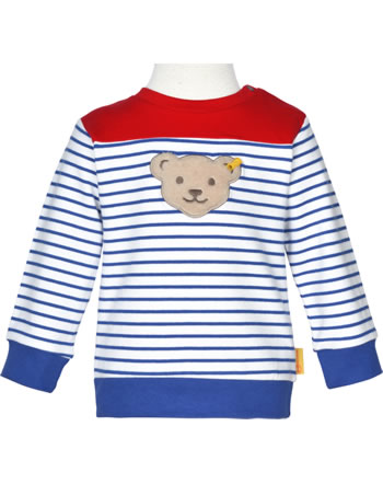 Steiff Sweatshirt FISH AND SHIP Baby Boys bright white 2112333-1000