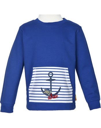 Steiff Sweatshirt FISH AND SHIP Mini Boys deep ultramarine 2112123-6063