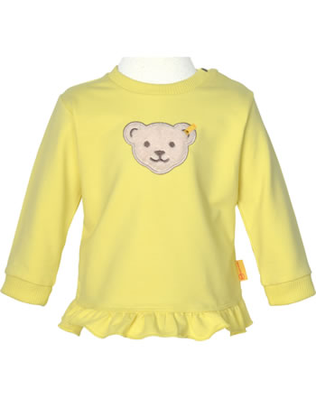 Steiff Sweatshirt HELLO SUMMER Baby Girls yellow cream 2113430-2005