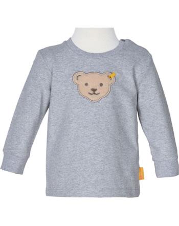 Steiff Sweatshirt HIGH FIVE Baby Boys soft grey melange 2111301-9007